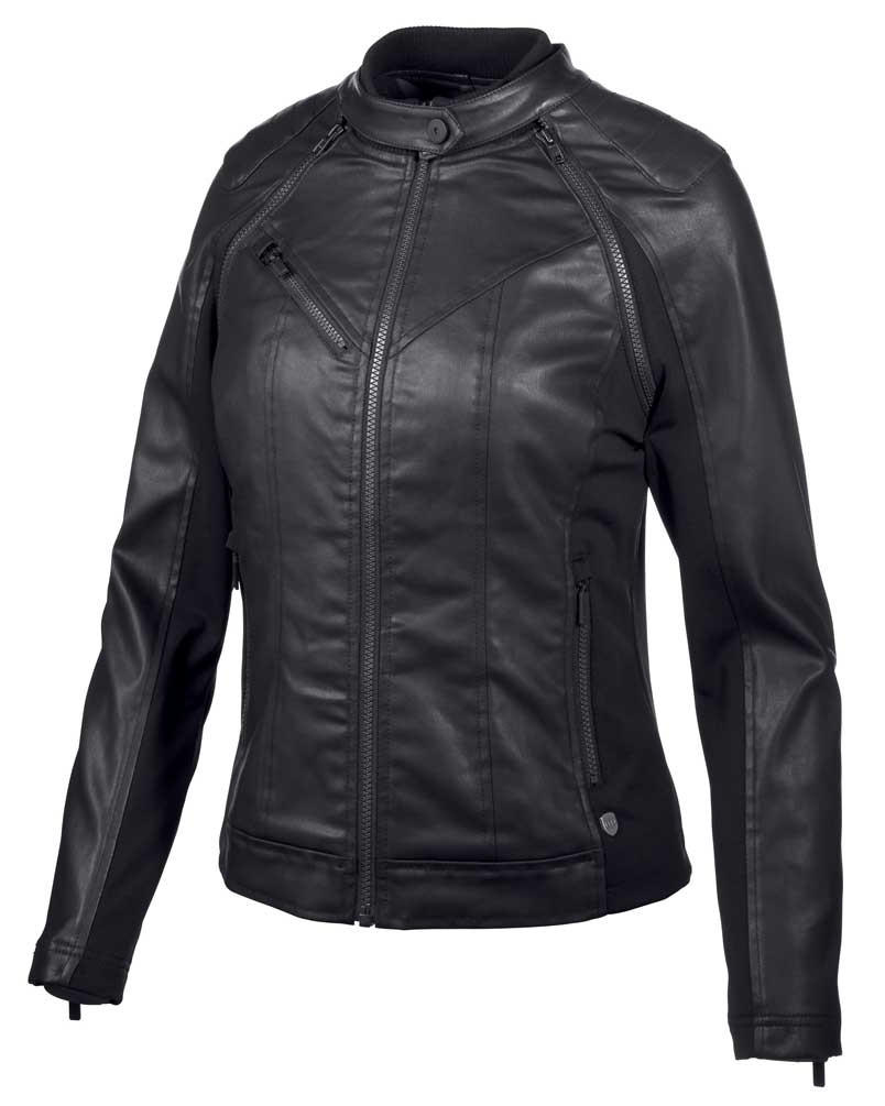 63b22a877 Harley-Davidson® Women's Coated Denim Convertible Jacket - Black 97509-19VW