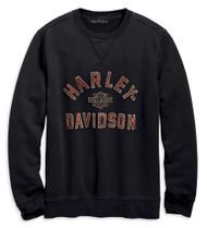 Harley-Davidson Men's Felt Letter Slim Fit Pullover Sweatshirt, Black 96689-19VM - Wisconsin Harley-Davidson