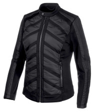 Harley-Davidson Women's Mixed Media Mesh Casual Jacket - Black 97533-19VW - Wisconsin Harley-Davidson