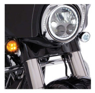 Ciro Fang Front LED Signal Light Inserts '00-up Harley Bullet Lights Black 45420 - Wisconsin Harley-Davidson