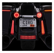 Ciro Fang Rear LED Signal Light Inserts '00-up Harley Bullet Lights Chrome 45401 - Wisconsin Harley-Davidson