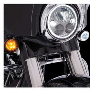 Ciro Fang Front LED Signal Light Inserts, '00-up Harley Bullet Lights, Chrome - Wisconsin Harley-Davidson