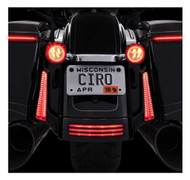 Ciro Fang Rear LED Signal Light Inserts, '00-up Harley Bullet Lights Black 45421 - Wisconsin Harley-Davidson