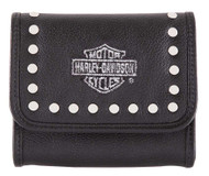 Harley-Davidson Women's Embroidery Studded Leather Coin Wallet HDWWA11461 - Wisconsin Harley-Davidson