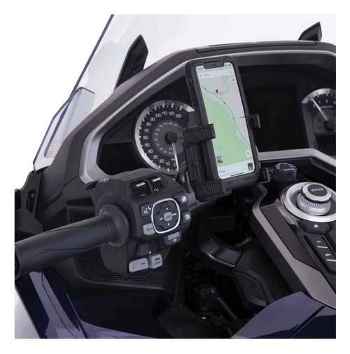 Ciro Goldstrike Left Side Smartphone Holder w/ Black Accessory Mount 58311 - Wisconsin Harley-Davidson