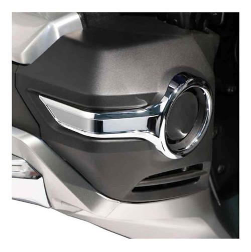 Ciro Goldstrike Fog Light Trim Rings Trim - Chrome, Fits Gold Wing Models 78220 - Wisconsin Harley-Davidson