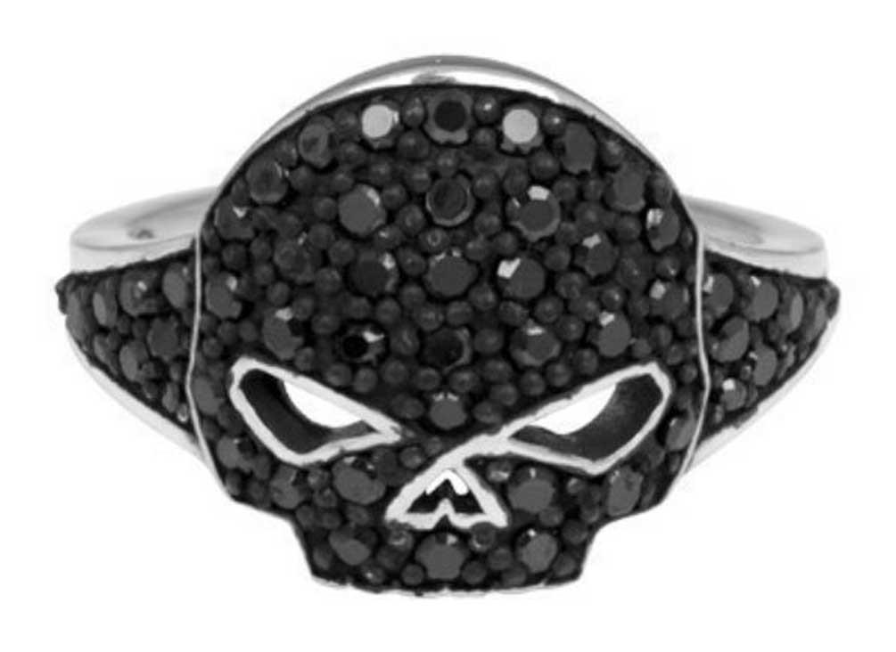Harley Davidson 174 Women S Black Ice Willie G Skull Ring