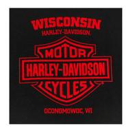 Harley-Davidson Men's B&S Eagle Short Sleeve Crew Neck Cotton T-Shirt, Black - Wisconsin Harley-Davidson