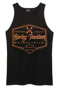 Harley-Davidson Men's Distressed Tantrum Sleeveless Tank Top - Solid Black - Wisconsin Harley-Davidson