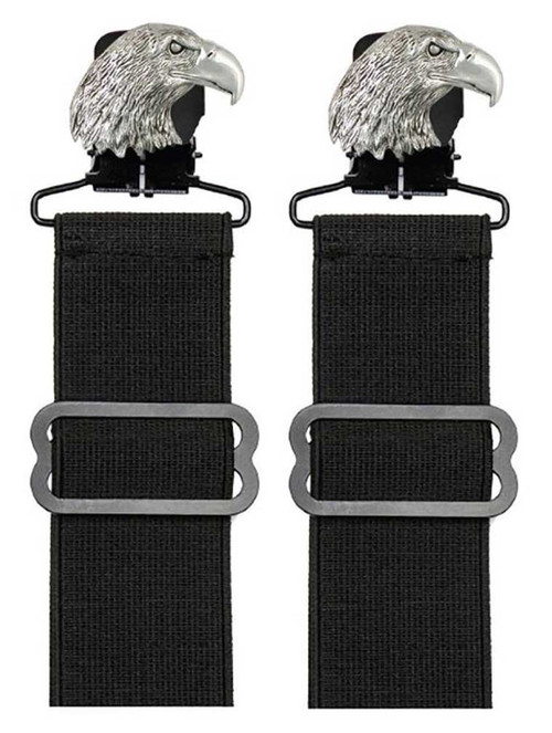Unisex Adjustable Elastic Boot Stirrups With Metal Eagle Clip, Set Of Two 08902 - Wisconsin Harley-Davidson