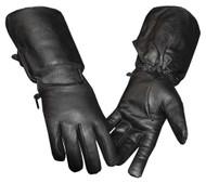 Redline Women's Full-Finger Gauntlet Leather Motorcycle Gloves, Black GL-53 - Wisconsin Harley-Davidson