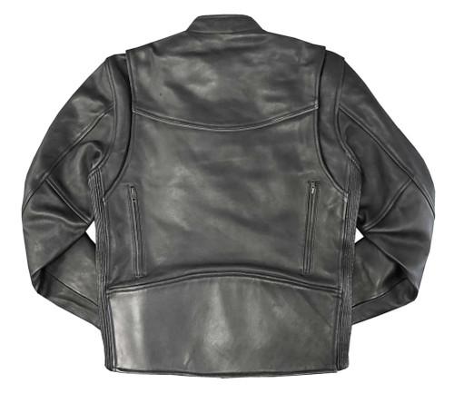 Redline Men's Stretch Sides Cowhide Leather Motorcycle Jacket - Black M-280 - Wisconsin Harley-Davidson