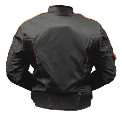 Redline Men's Cordura 600D Waterproof Riding Jacket - Black & Orange M-4301 - Wisconsin Harley-Davidson