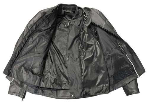 Redline Men's Armor Black Piping Motorcycle Functional Jacket - Black M-10BR - Wisconsin Harley-Davidson