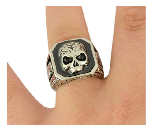 Biker Chain Jewelry Men's Skull & Eagle Ring - Silver Stainless Steel SK1024 - Wisconsin Harley-Davidson