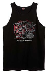 Harley-Davidson Men's Rolling Stones Midnight Rambler Sleeveless Tank Top, Black - Wisconsin Harley-Davidson