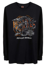 Harley-Davidson Men's Rolling Stones Midnight Rambler Long Sleeve Shirt - Black - Wisconsin Harley-Davidson