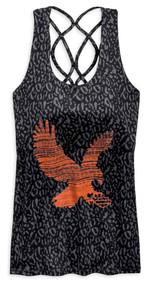 Harley-Davidson® Women's Lattice Back Strap Eagle Graphic Tank Top 96820-19VW