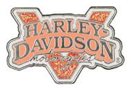 Harley-Davidson Women's Glitter Fill V-Twin Power Pin - Nickel Plated P1325792 - Wisconsin Harley-Davidson