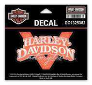 Harley-Davidson Glitter V-Twin Power Decals, SM Size 4 x 2.625 in. DC1325382 - Wisconsin Harley-Davidson