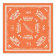 Harley-Davidson Women's V-Twin Power Bandana, Light Orange & Tofu Wash BA132538 - Wisconsin Harley-Davidson