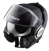 LS2 Helmets Modular Valiant Touring Motorcycle Helmet, Solid Gloss Black 399-100 - Wisconsin Harley-Davidson