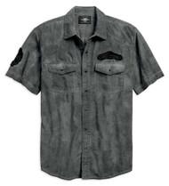 Harley-Davidson Men's Let's Ride Woven Short Sleeve Shirt - Nickel 96767-19VM - Wisconsin Harley-Davidson