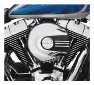 Harley-Davidson Black & Chrome Airflow Air Cleaner Trim, Fits Softail 61300542 - Wisconsin Harley-Davidson