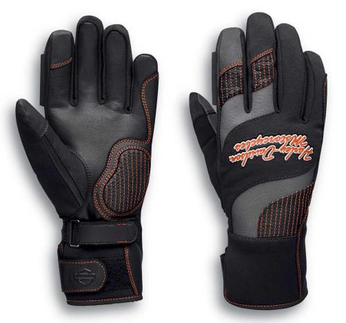 Harley-Davidson Women's Vanocker Under Cuff Gauntlet Gloves, Black 98129-20VW - Wisconsin Harley-Davidson