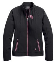 Harley-Davidson Women's Pink Label Soft Shell Casual Jacket - Black 98405-20VW - Wisconsin Harley-Davidson