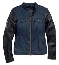 Harley-Davidson Women's Abrasion-Resistant Denim Riding Jacket 98132-20VW - Wisconsin Harley-Davidson