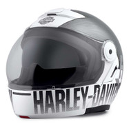Harley-Davidson Men's Vanocker J08 Modular Helmet, Gloss Silver 98101-20VX - Wisconsin Harley-Davidson