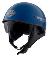 Harley-Davidson Men's Curbside DLX X06 Half Helmet, Gloss Blue Tide 98107-20VX - Wisconsin Harley-Davidson