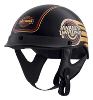 Harley-Davidson Men's Ultra M04 Wicking Half Helmet, Black/Gold 98112-20VX - Wisconsin Harley-Davidson
