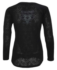 Harley-Davidson Womens Legend Scroll Embellished Long Sleeve Shirt, Black - Wisconsin Harley-Davidson