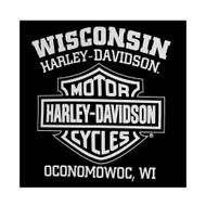 Harley-Davidson Men's T-Shirt Eagle Graphic Short Sleeve Tee Black Tee 30296656 - Wisconsin Harley-Davidson