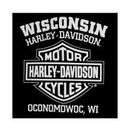 Harley-Davidson Men's T-Shirt Eagle Graphic Short Sleeve Tee Black Tee 30296656 - Wisconsin Harley-Davidson