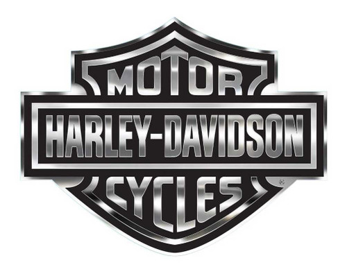 Harley-Davidson Bar & Shield Logo Decal, X-Large 30 x 40 In, Gray & Black CG4330 - Wisconsin Harley-Davidson
