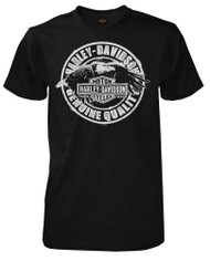 Harley-Davidson Men's T-Shirt, No Rules Eagle Short Sleeve, Black 30294027 - Wisconsin Harley-Davidson