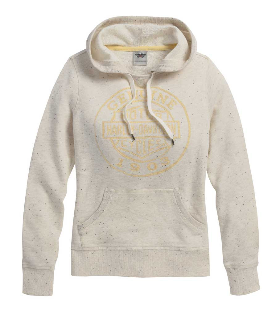 0384b1c23 Harley-Davidson Women's Distressed Graphic Speckled Pullover Hoodie  96217-16VW - Wisconsin Harley-. Click to enlarge