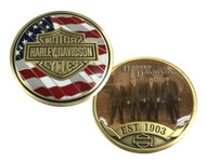Harley-Davidson Originals Challenge Coin, Bar & Shield Est. 1903 Coin 8003456 - Wisconsin Harley-Davidson