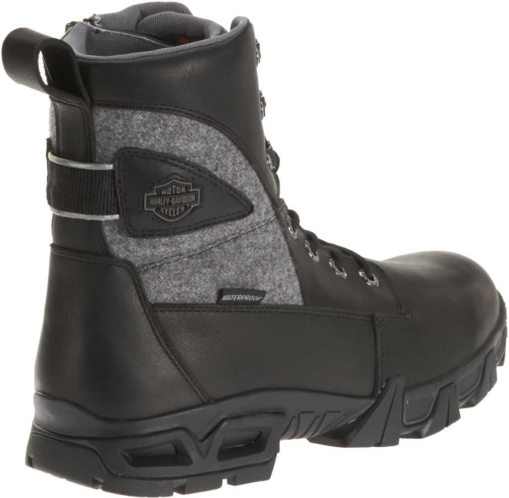 a567cac9447 Harley-Davidson® Men's Flint Black Leather Waterproof Motorcycle Boots.  D96048