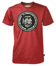Harley-Davidson Men's Black Label T-Shirt, Quality HDMC Goods, Washed Red - Wisconsin Harley-Davidson