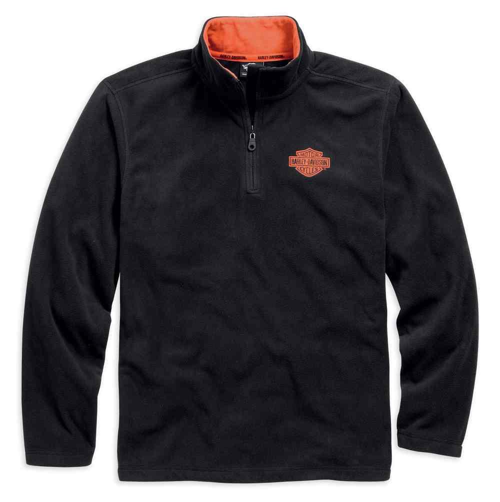5eb9588a9 Harley-Davidson Men's 1/4-Zip Long Sleeve Logo Fleece Pullover 99001-.  Click to enlarge