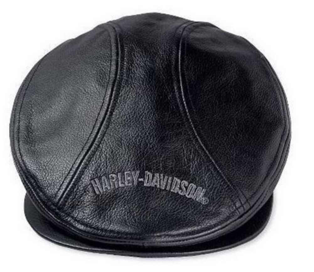 934d2a92259 Harley-Davidson® Men s Nostalgic Trademark Leather Ivy Cap 99561-04V ...