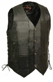 Leather King Men's 10 Pocket Side Lace Vest SH1391 - Wisconsin Harley-Davidson