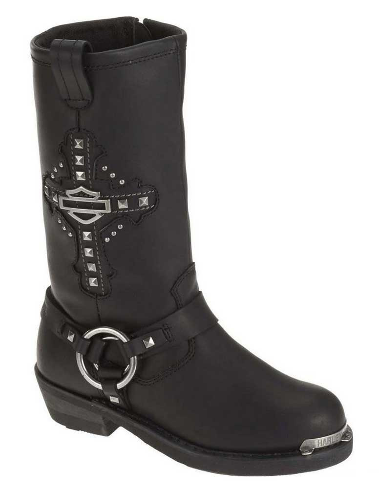 fba820d969c Harley-Davidson® Women's Mila 10-Inch Black Leather Motorcycle Boots. D87062