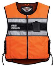 Harley-Davidson Men's Hi-Vis Orange Riding Vest 98172-08VM - Wisconsin Harley-Davidson