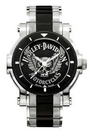 Harley-Davidson Men's Bulova Winged Skull Wrist Watch 78A109 - Wisconsin Harley-Davidson