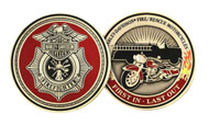 Harley-Davidson Firefighter First In Last Out Challenge Coin 1.75'' 8002923 - Wisconsin Harley-Davidson
